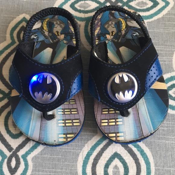 Toddler Boys Lightup Batman Flipflops